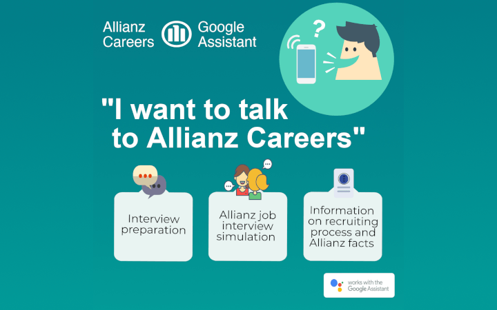 I want to talk to Allianz Careers: Google Assistant im Bewerbungsprozess
