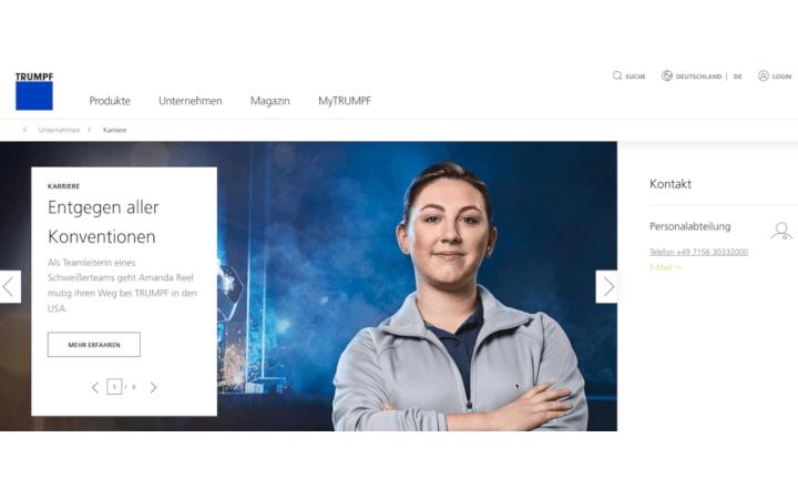"""Interview mit Katja Tiltscher von TRUMPF über die neue Arbeitgebermarke und """"DigITal Sprint"""""""
