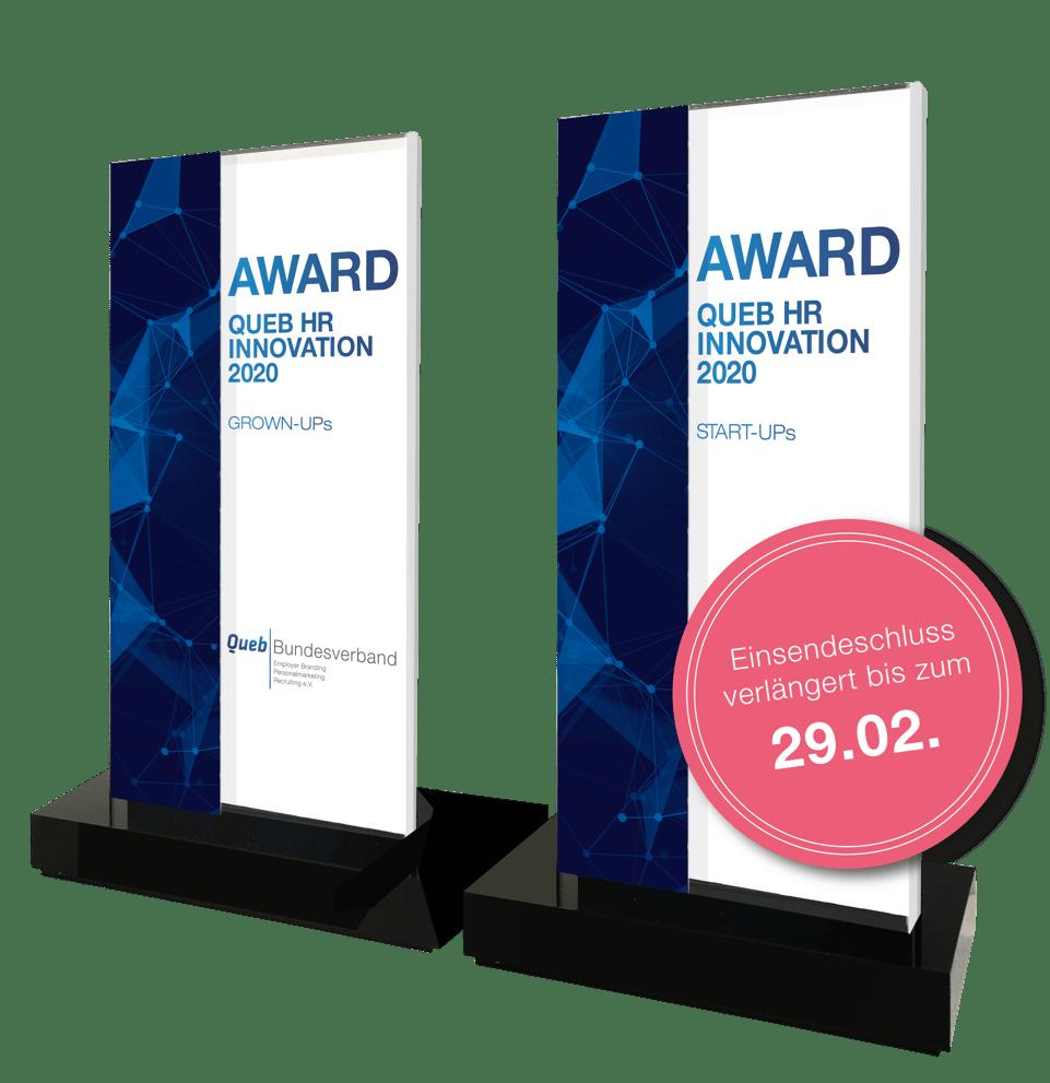 Queb HR Innovation Awards 2020 für Startups & Grownups