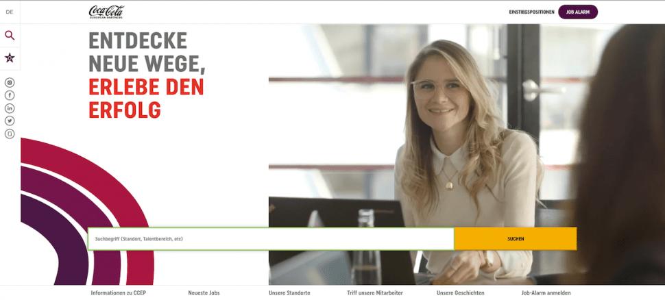Coca-Cola: Interview zur neuen länderübergreifenden Karrierewebsite