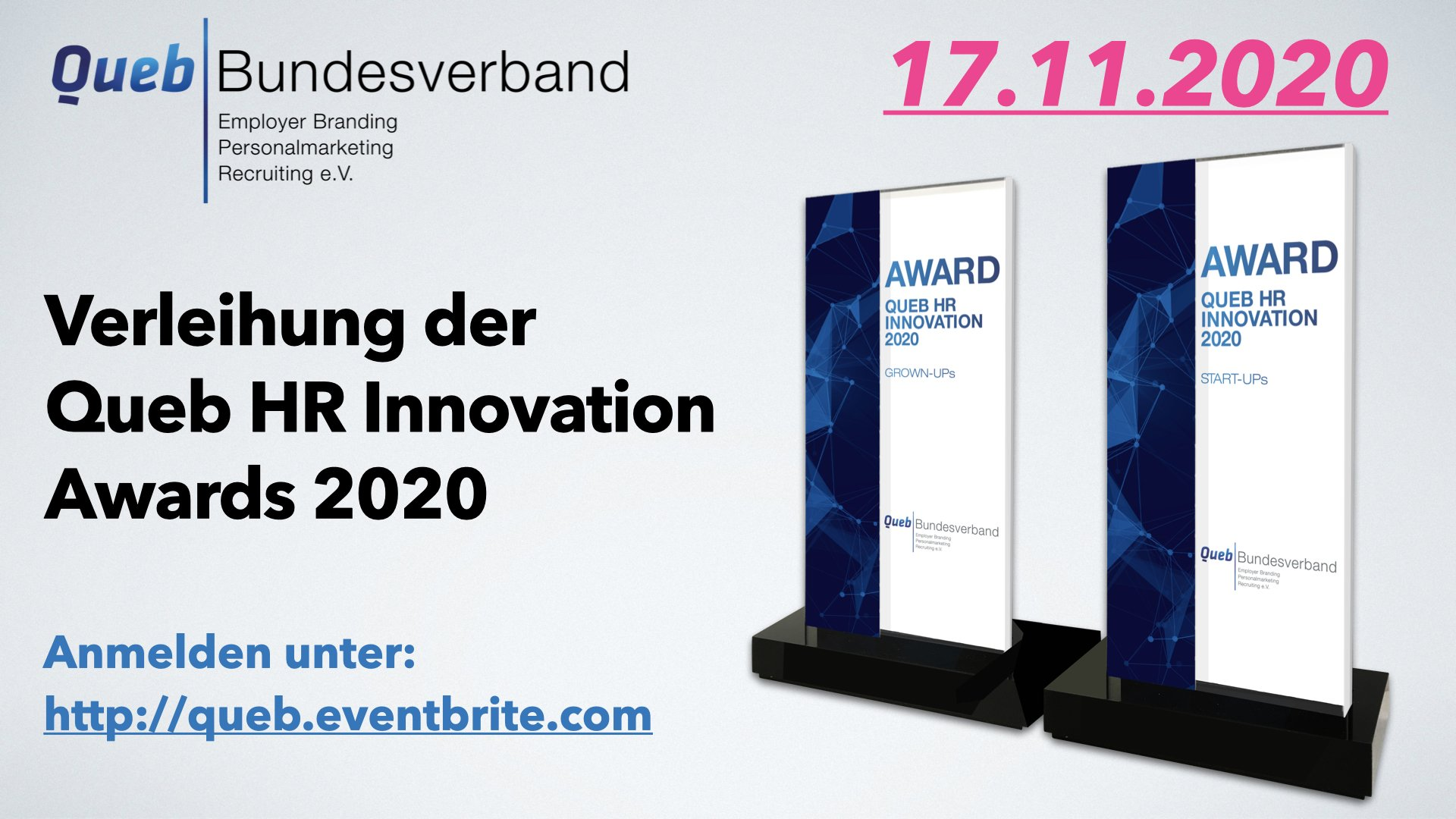 Queb HR Innovation Awards 2020 Eventbrite Anmeldung