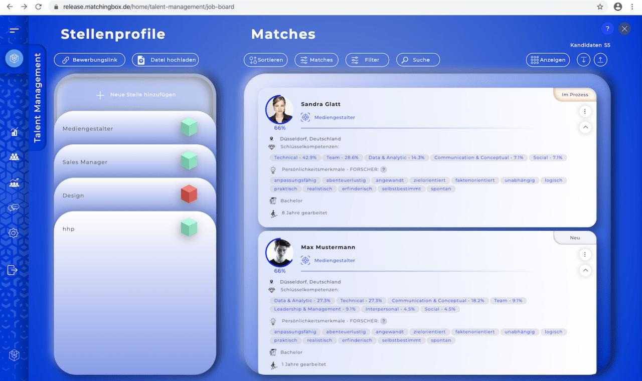 MATCHINGBOX: cloudbasierte HR-Software erfasst Persönlichkeit & Unternehmenskultur