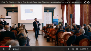 Prof. Christoph Beck recruiting Convent 2014